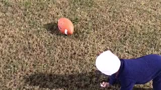 Future NFL star... 13 month old Landon  - Video