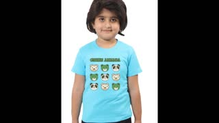 Kids Graphic Cotton Fuchsia Colour Tee Shirts - Video