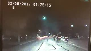 Lisle Police Department dash cam captures fireball - Video