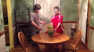 Exploding Watermelon Means Lights Out For These Kids - Video