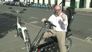 'Safest bike ever' devised by British entrepreneur - Video