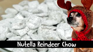 Nutella Reindeer Chow, A Chex Mix White Christmas Treat! - Video