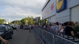 LIDL Grand opening in Lithuania, Vilnius - Video