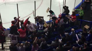 Flying Pizzas Excite the Hockey Crowd