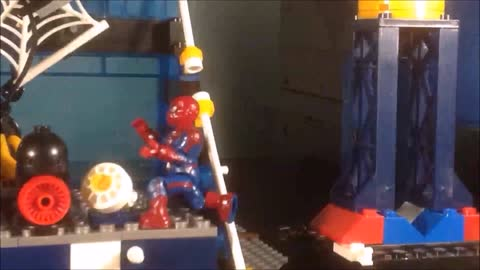 STOPMOTION CiiC Mega Bloks Oscorp Tower Battle 91351 Welcome Home Spidey