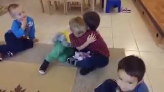 hugging children - Video