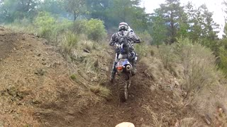 KTM Rider Falls Down a Mine Shaft - Video