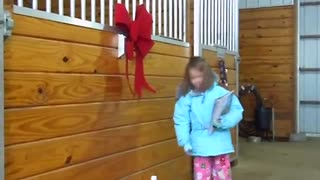 (VIDEO) The Most Adorable Surprise – Little Girl Got A Pony For Christmas! - Video