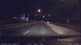 Meteor caught on dash cam in New Zealand