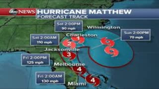 Hurricane Matthew Hits Florida, Heads Toward Haiti - Video