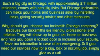 locksmith Chicago - Video