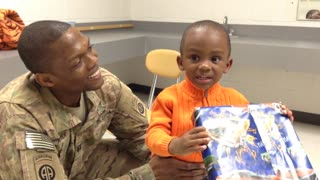 Deployed soldier arrives home early to surprise his son! - Video