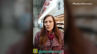 Guy goes through costco with his mom handing her free samples - Video