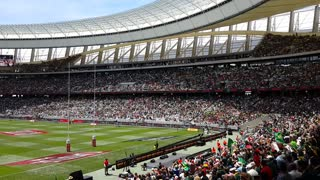 Mexican Wave At Cape Town Stadium