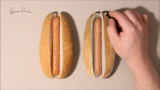 Hot Dog Drawing Challenge - Video