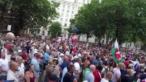 A PRO TRUMP UK RALLY