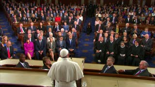 Pope Francis addresses fractious U.S. Congress - Video