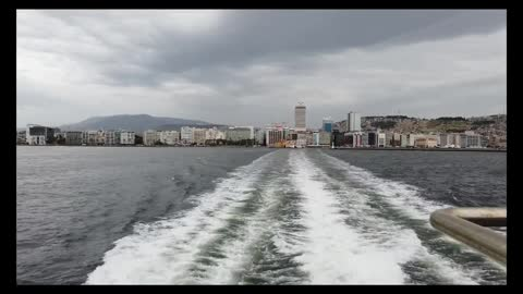 Crazy Fast Driving Boat around town