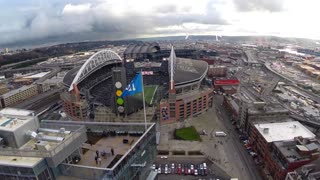 Stunning drone footage over Seattle shows NFL season is near - Video