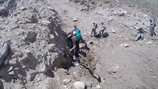 Trekking in Aconcagua When... a Bit of a Landslide - Video