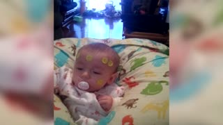 Cute Kid Spreads Smiles To His Baby Sister - Video
