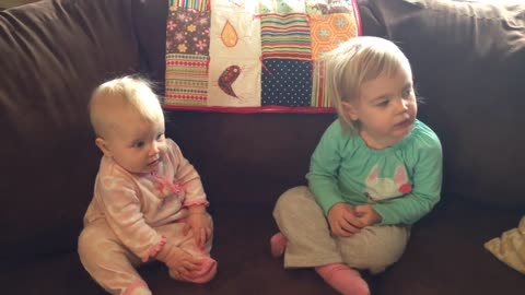 This Adorable Toddler Thinks Her Sibling's Name Is 'Sister'