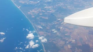 Flying over Lake Michigan - Video