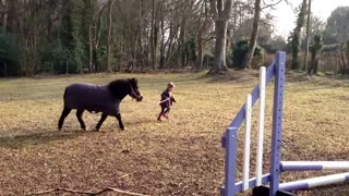 Mom Films 3-Year-Old Sitting On A Horse, But When They Turn Around, I Never Expected THIS