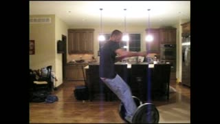 Guy Wrecks His Living Room After Losing Control Of Segway - Video