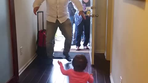 Toddler Bypasses Dad For Grandma When He Returns From Trip