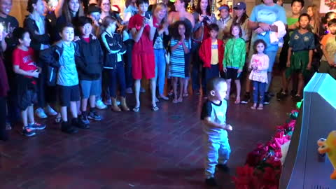 3 year old boy dancing