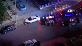 California High Speed Police Chase, Suspects Take That Turn Waaay Too Fast...