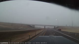 Foggy Morning Nearly Causes Semi and Truck to Crash