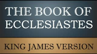 The Book of Ecclesiastes (Chapter 1)