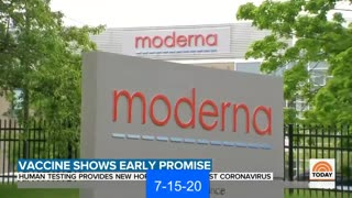 7-15-20 Moderna Vaccine Trial Covid-19 Coronavirus Pandemic Lockdowns Quarantine Bill Gates