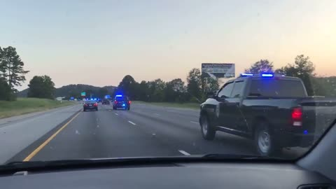 Massive convoy en route to assist with Hurricane Irma damage