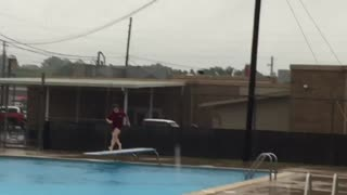 Collab copyright protection - raining red shirt diving fail - Video