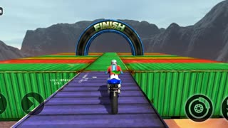 Impossible motor bike tracks game