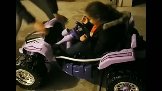 Kid Has a Hard Time Stopping Toy Car