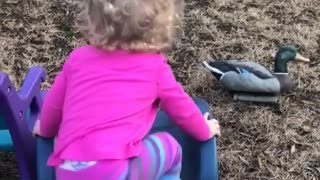 Collab copyright protection - toddler girl faceplant blue slide - Video