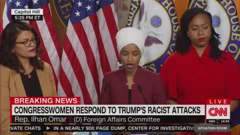 Ilhan Omar refuses to respond to Trump claiming she supports Al-Qaeda