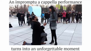 A capella group helps man arrange unforgettable proposal - Video