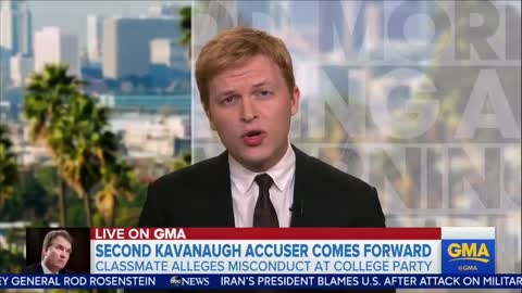 Ronan Farrow is interviewed on Good Morning America