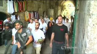 al-Aqsa clashes erupt for third day - Video
