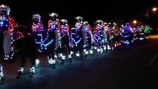 Equestrian Drill Team Shows Christmas Spirit