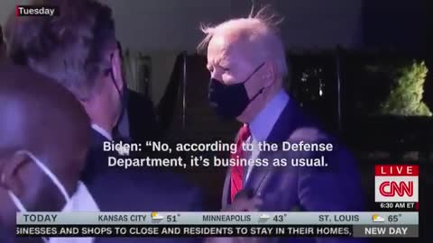 Biden Laughs Off North Korea's First Missile Test During His Administration