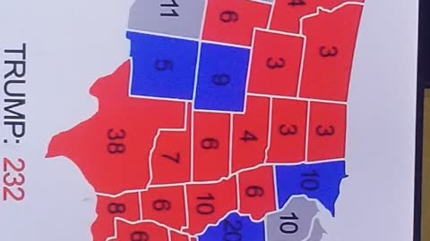 The real Trump vote map count
