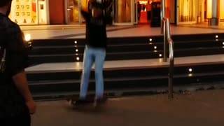 Collab copyright protection - outside mall skateboard stairs fail  - Video