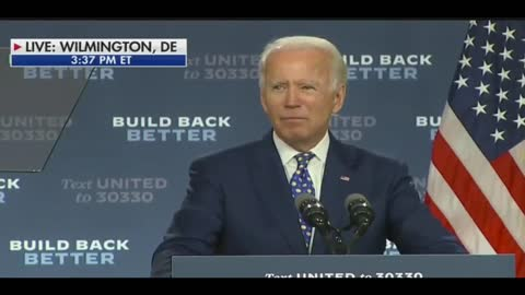 """Joe Biden: """"We Can't Rebuild This Economy And Meet This Climate Clisis"""""""