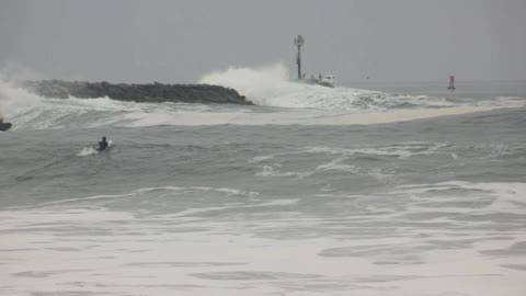 Lifeguard rescue at the Wedge